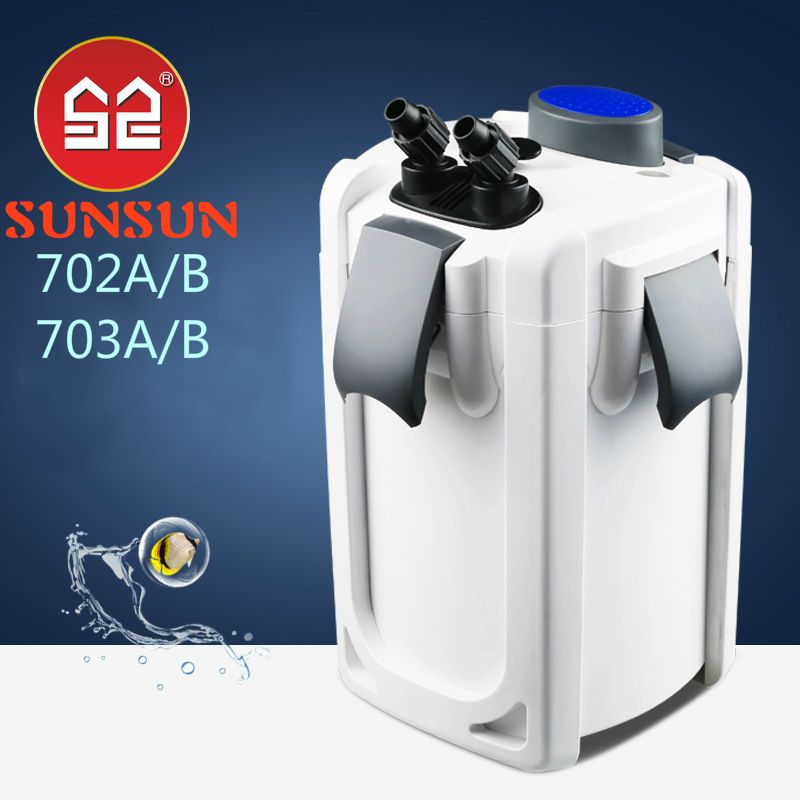 SUNSUN 220V UV Fish tank Pond filter ultra-quiet external aquarium filter bucket UVC sterilizer lamp purify water Algae Remove