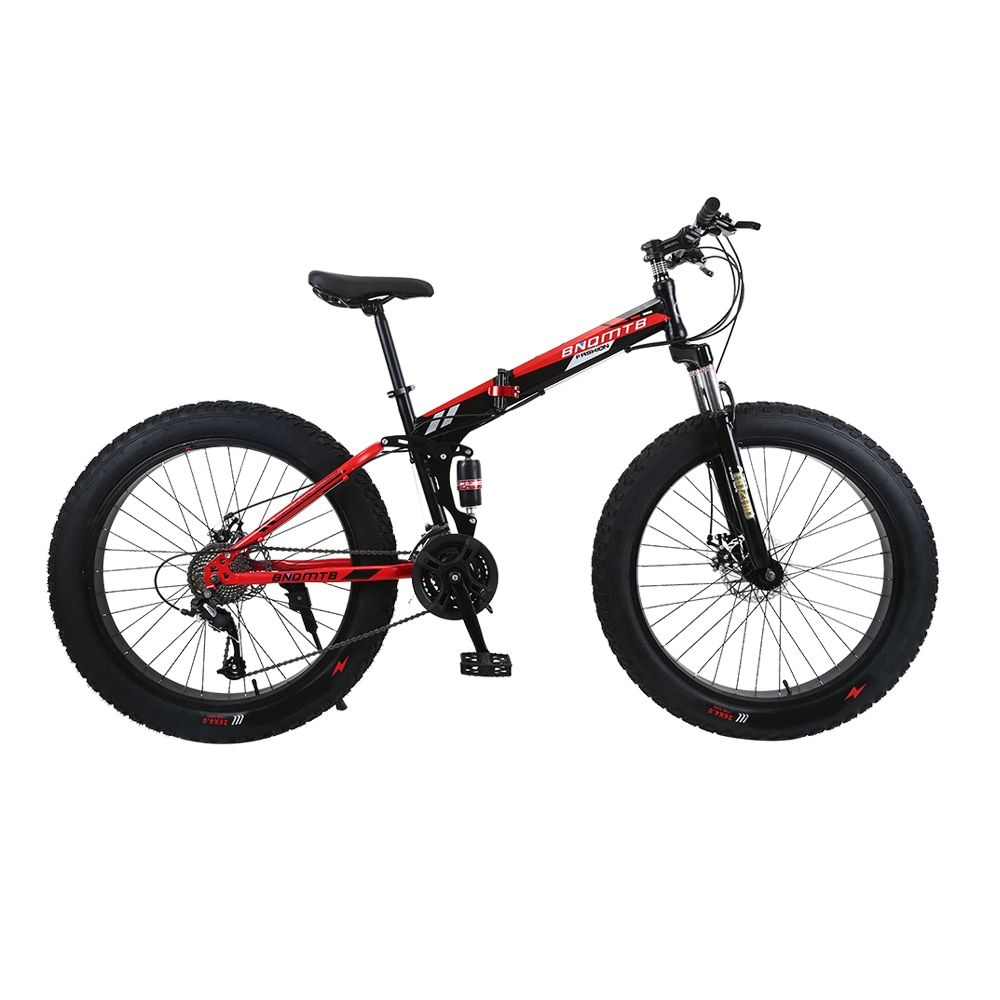 Russian warehouse and Wholesale 26 inch and 7 speed Thick wheel SNOW bike and mountain FOLDING Bicycle downhill Road