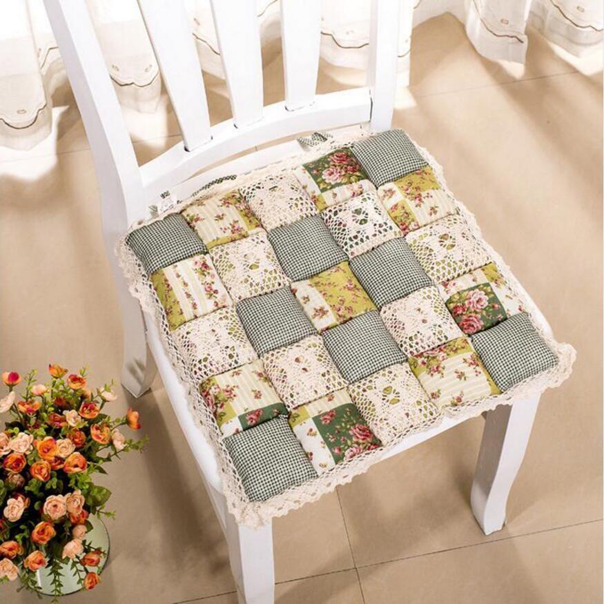 1 pc Style Pastoral Impression Fleur Coton Siège Coussin Canapé De Voiture Maison De Tapis Cuisine Chaise Sit Pad Tapis Oreillers Hiver