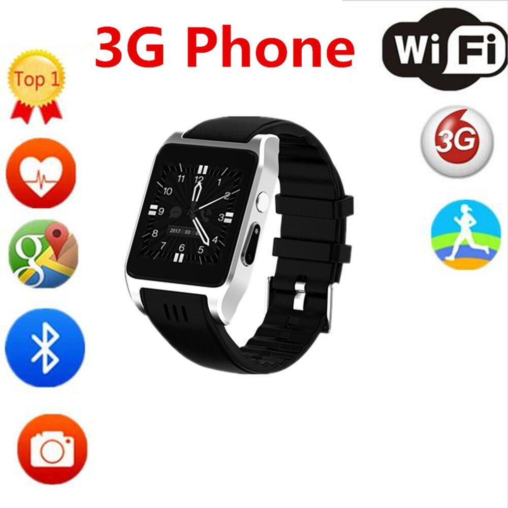 LYKL New Arrival Sport Smart Watch X86 Bluetooth Support 3G Wifi Camera SIM Card Skype Whatsapp Facebook For Phone Android 4.4