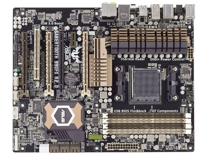 Free shipping original motherboard for ASUS SABERTOOTH 990FX R2.0 DDR3 Socket AM3+ USB2.0 USB3.0 32GB Desktop motherboard