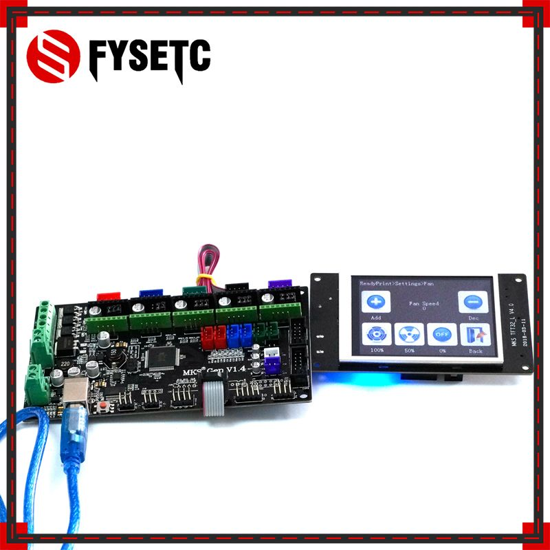 TFT32 LCD Screen + MKS Gen V1.4 4 Layers PCB controller Board Integrated Mainboard Compatible Ramps1.4/Mega2560 R3 3D printer