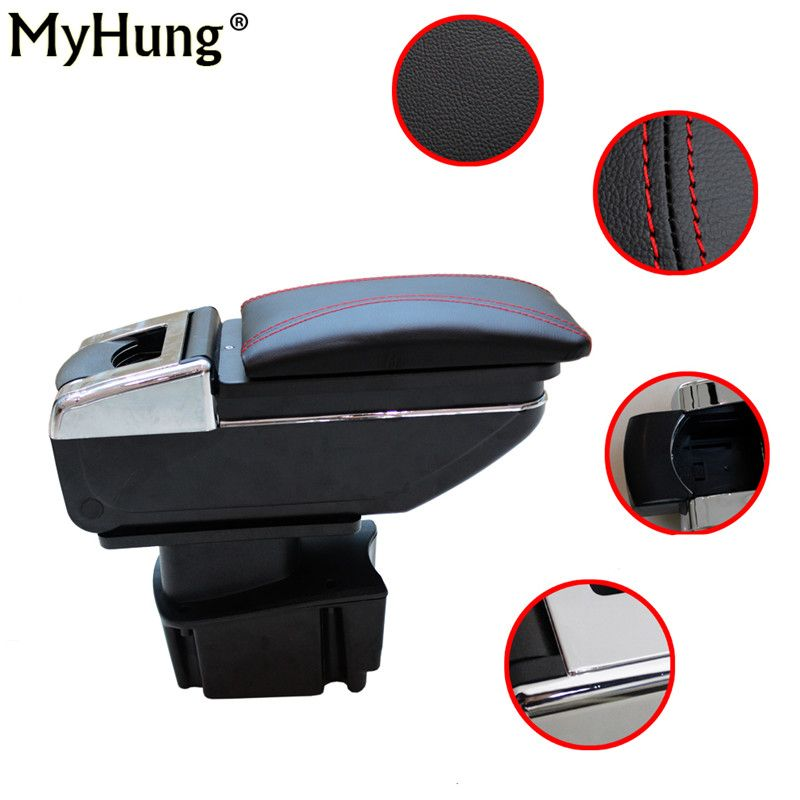 Hot Sale For KIA Rio K2 2011 To 2015 7 Generation Car Armrest Box Center Console Storage Box Car Accessories Case Car-styling