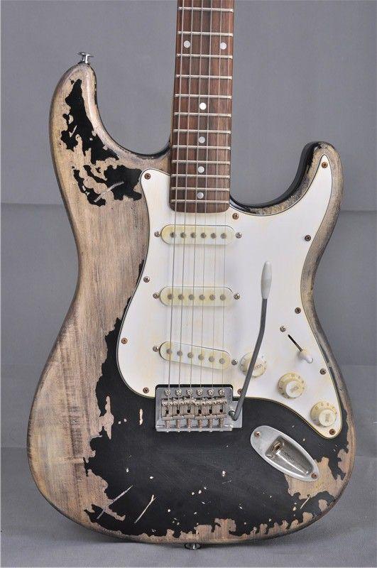 2017 förderung Musical Instruments Handarbeit John Mayer Strat Limited Edition 1 Cruz Masterbuilt Schwere Relic St Elektrische Gitarre