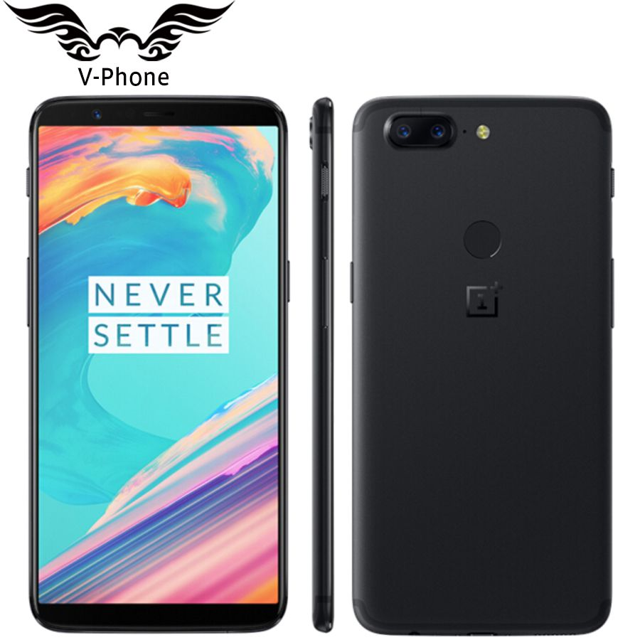 6.01 inch Oneplus 5T 8GB 128GB 4G Mobile Phone Android Snapdragon 835 Octa Core 16MP 20MP Dual Back Cameras NFC Smartphone