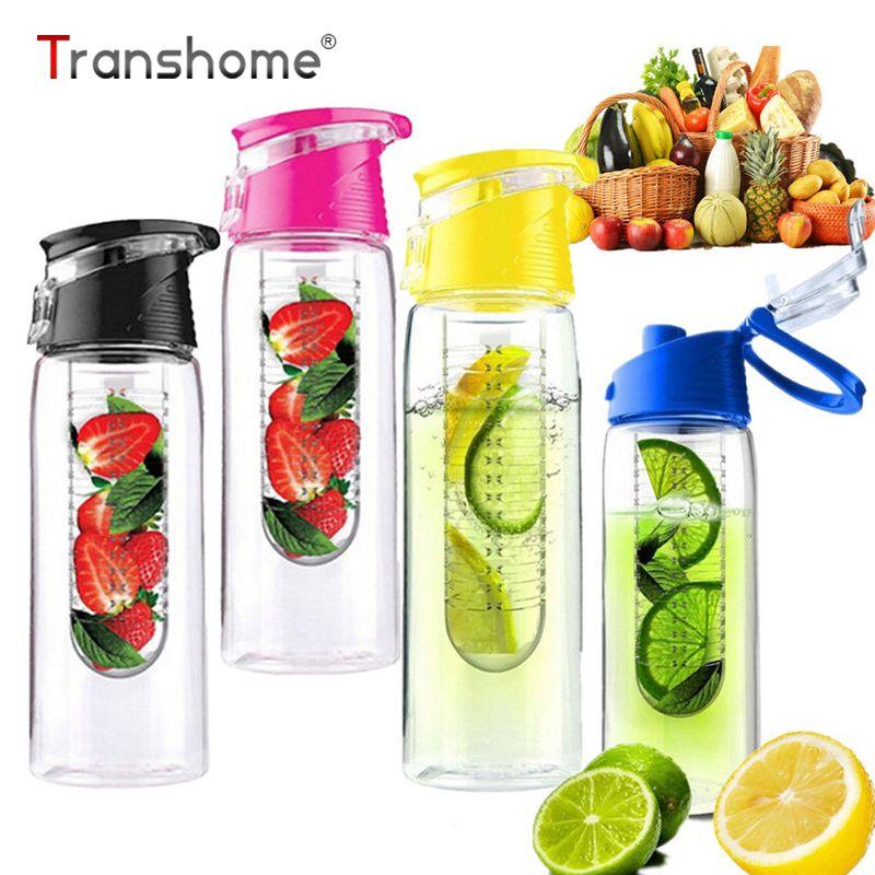 2015 новый 800 мл спорт фрукты настаивая Infuser воды лимонный сок здоровья бутылки флип-крышкой чайник со свистком креативные вещи