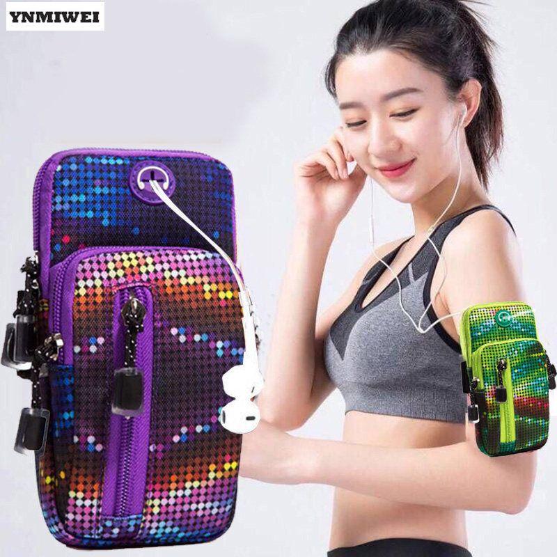 YNMIWEI 5.0-6.0 Pouce Universel Brassard Pour iPhone X 8 7 Plus Sport bras Bande Support de Téléphone Pour Huawei Compagnon 10 9 Téléphone Housse