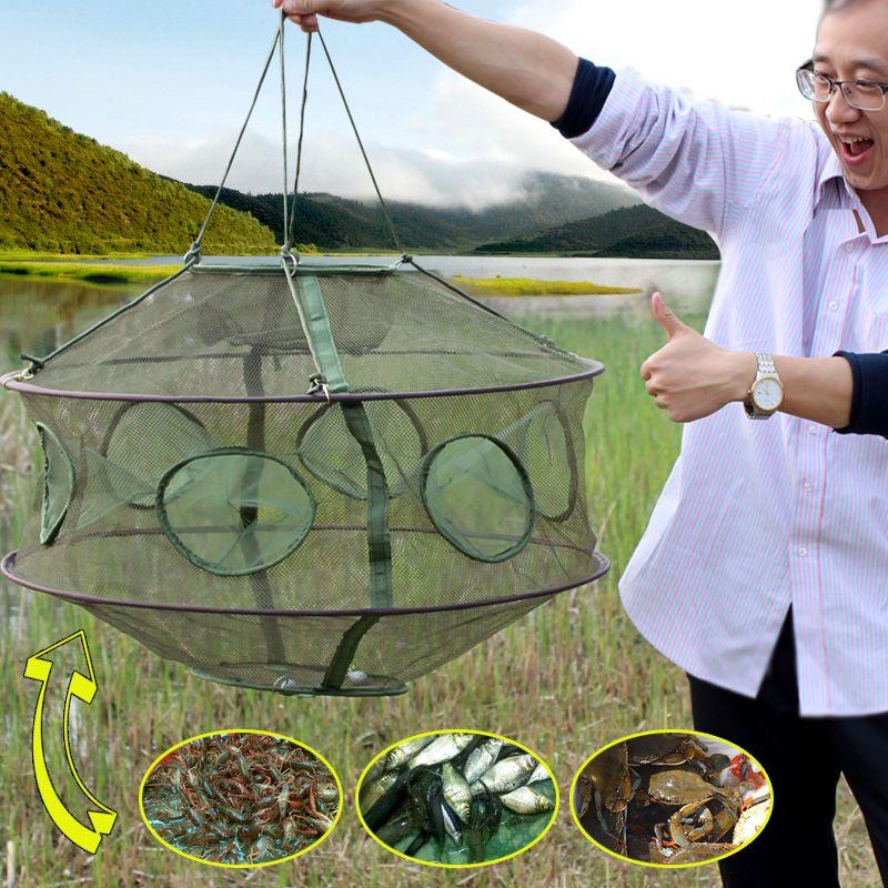 Klapp Rede Fischernetz Crawfish Mesh Angeln Netzwerk Casting Garnelen Cast Dip Mesh Fisch Net Minnow Lobster Crab Fisch Falle käfige