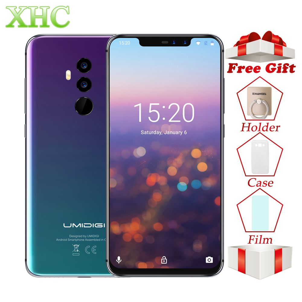 UMIDIGI Z2 Dual 4G LTE Smartphone 6GB+64GB Face ID 6.2'' Android 8.1 Wireless Fast Charging Octa Core Dual 16MP 8MP Mobile Phone