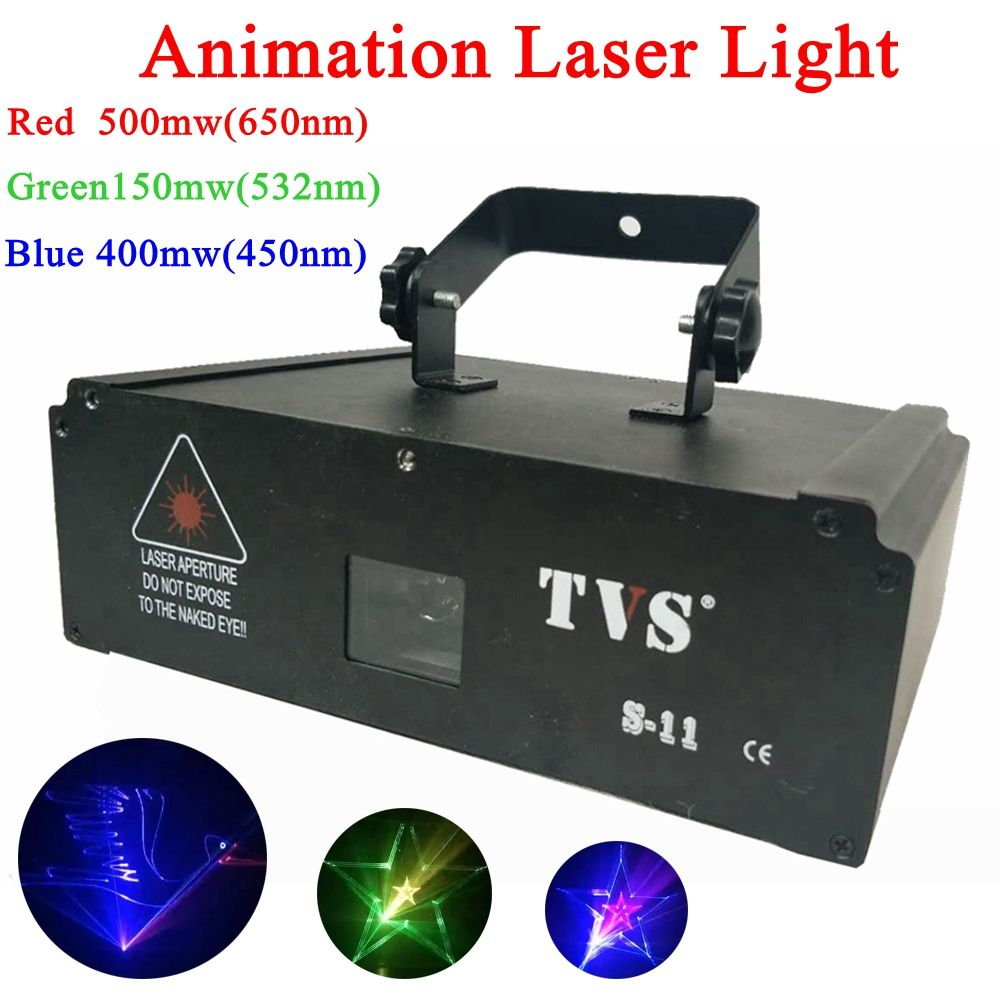 Colorful 1W Animation Laser Projector Disco Pub graphics Laser Projector Dj Music Bar Stage Show Animation Laser Projector