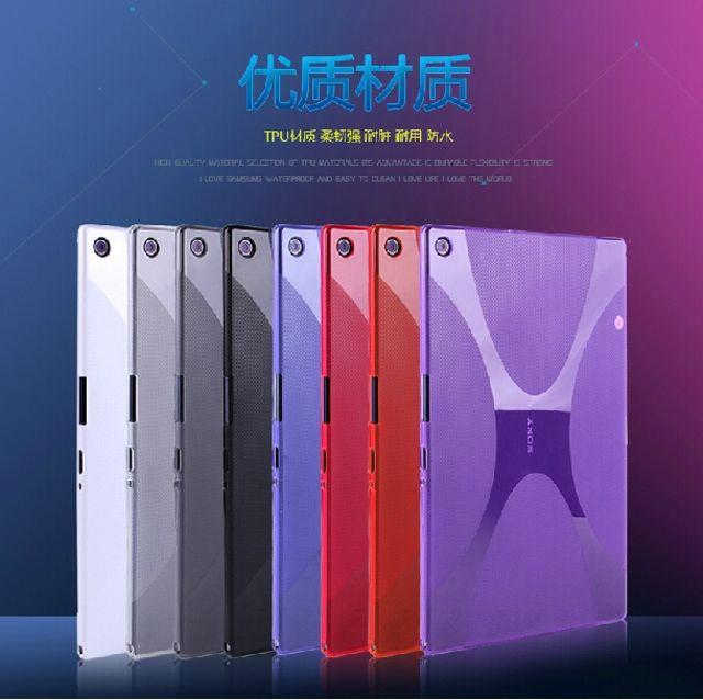 Nouveau luxe Silicone X ligne souple Silicone caoutchouc TPU Gel peau coque de couverture pour Sony Xperia tablette Z2 SGP541/511/512CN 10.1