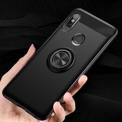 Case untuk Xiaomi Redmi Note 5 Pro Mobil Magnetic Suction Bracket Cincin Lembut TPU Menutupi Belakang untuk Redmi Note 5 Versi Global