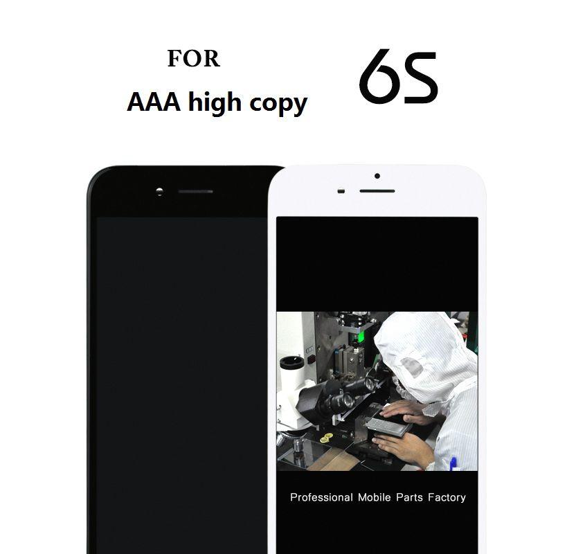 Pour AAA DHL TOP qualité 10 pcs Pour Iphone 6 s Lcd Affichage Et Écran Tactile Digitizer Assemblée Complet remplacement caméra titulaire