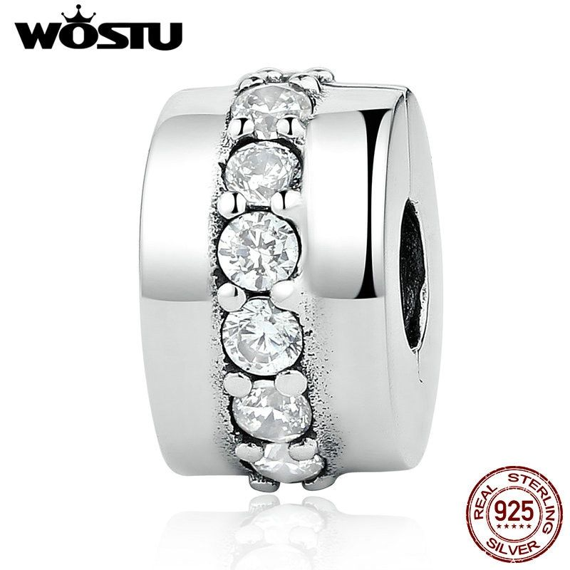 Nouvelle Arrivée Réel 925 Sterling Argent Sentier Lumineux Clip Charmes Perles Fit Original WST Bracelet Bracelet Authentique Fine Jewelry