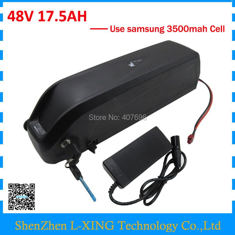 Down tube Hailong 48V 17.5Ah battery 1000W 48V17AH lithium battery with USB Port Use Samsung 3500mah cells US EU Free Tax