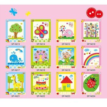 Kids DIY Button Stickers Drawing Toy Handmade School Art Class Painting Drawing Craft Kit Children Creativity Educational Toy