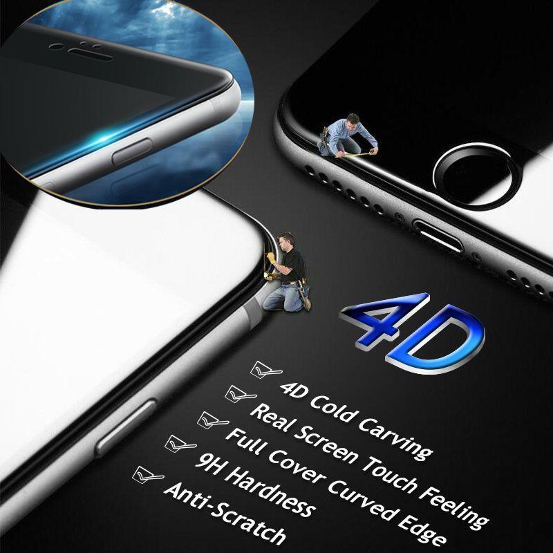 Распродажа! Gulynn 4D холодной резьба полное покрытие закаленное Стекло для iPhone 6 6 S 7 8 Plus premium Экран закаленное Стекло защитный