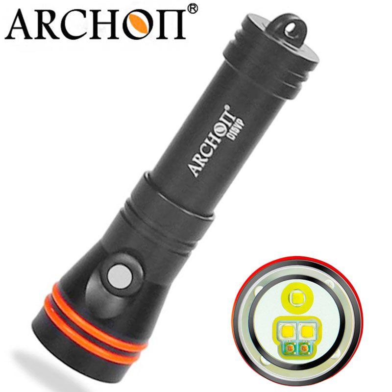 ARCHON D15VP 100M Diving Flashlight Video Spot Light <font><b>White</b></font> Red CREE LED 1300 Lumens 110 / 30 Degree 100M Underwater Flashlight