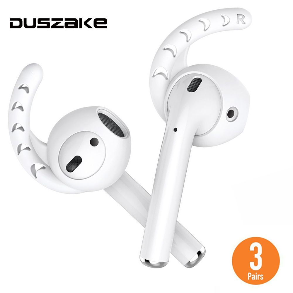 Duszake Replacement For AirPods Case Silicone Ear Hook For Air Pods Cover For Apple Airpods Case Earbuds Tips For Apple EarPods
