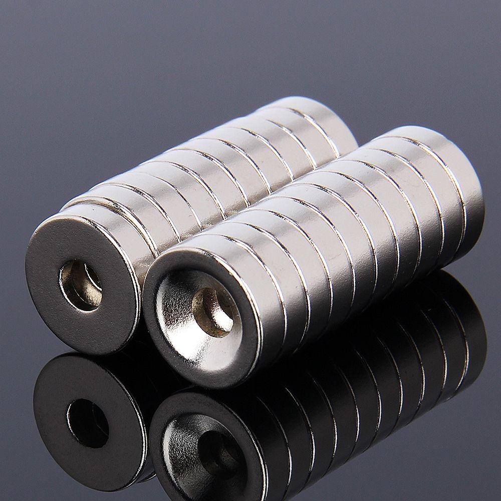 Hakkin 20pcs 15x4mm magnet Super strong neodymium disc 15x4 magnet D15*4 NdFeB Magnet 15*4 Neodymium magnet D15*4mm W/ 5mm Hole