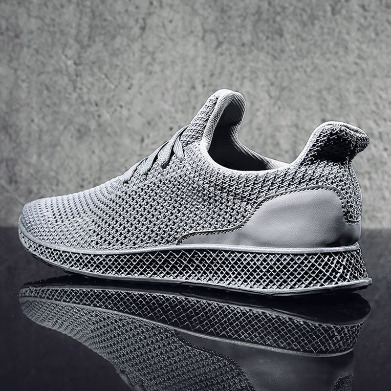 MWSC 2017 Autumn Designed Fly Weave Men's Casual Shoes Future Theory Male Breathable Lace Up Leisure Chaussure Shoes