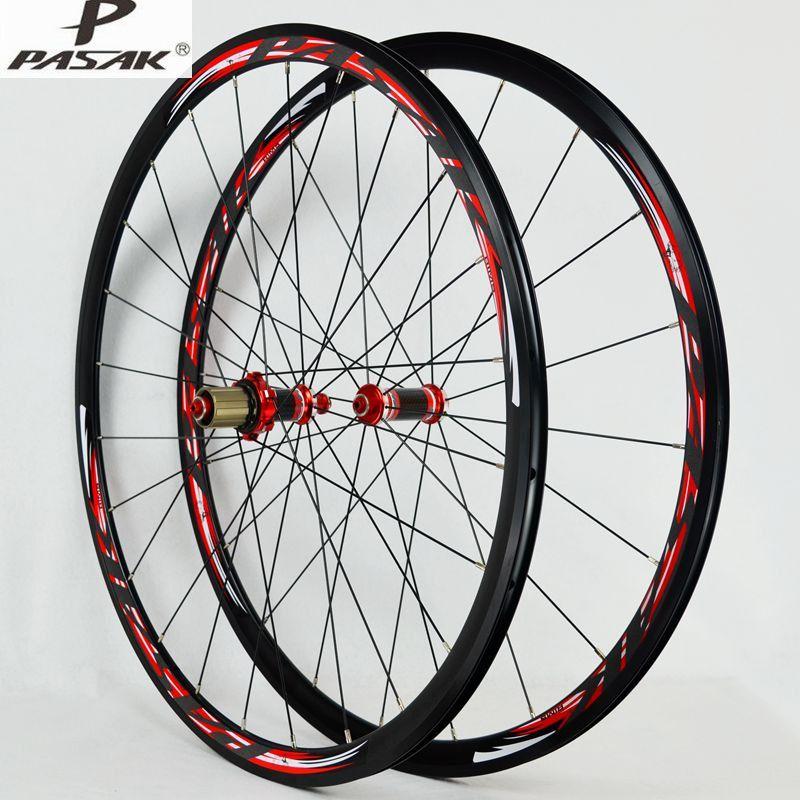 PASAK 700C Rennrad Fahrrad Kohlefaser abgedichtete lager Rad Gerade Pull V/C Bremsen 30 MM Felgenräder
