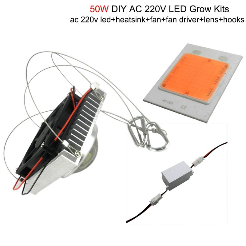 diy 50w 100w full spectrum hydroponics led grow light with full kits for medical plant,Greenhouse Hydroponics Systems,bloom