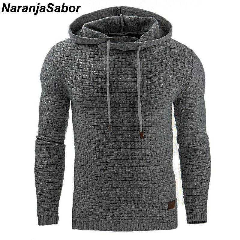 NaranjaSabor 2018 Automne Hommes Hoodies Slim Sweats À Capuche Hommes de Manteaux Homme Sportswear Décontracté Streetwear Marque Vêtements N461