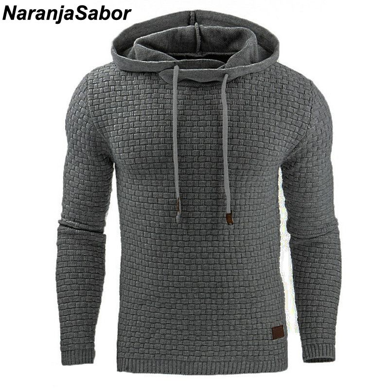 NaranjaSabor 2018 Autumn Men's Hoodies Slim Hooded Sweatshirts Mens Coats Male Casual Sportswear Streetwear Brand Clothing N461