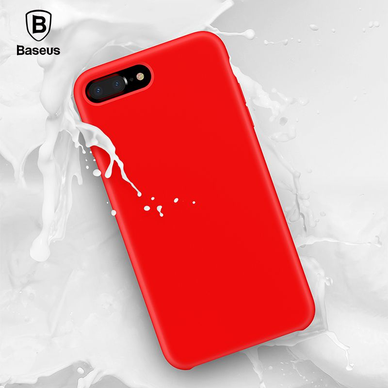 Baseus Original Official Liquid Silicone Case For iPhone 7 8 Fashion Candy Color Phone Case For iPhone 7 Plus 8 Plus <font><b>Cover</b></font>