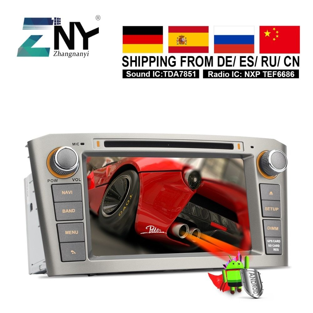 Android 8.0 Double Din Auto GPS Radio For Toyota Avensis T25 2003 2004 2005 2006 2007 2008 Car DVD Audio Video Navigation System
