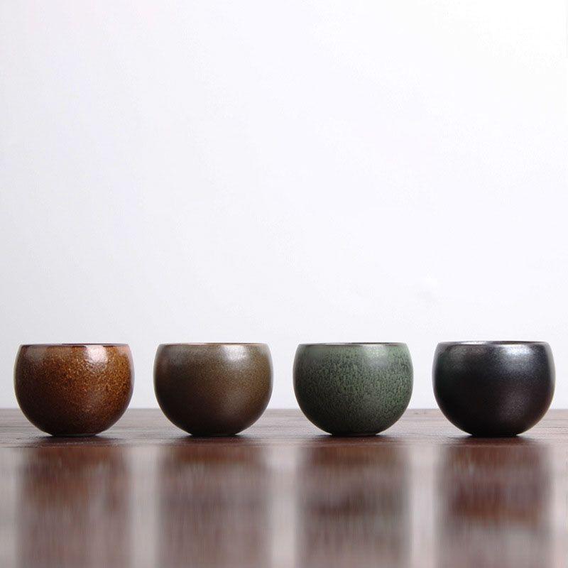 Style japonais boisson ancien four grossier poterie tasse à thé tasse en céramique Kung Fu thé Pu'er thé 90 ml poterie thé cérémonie