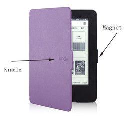 Original 1:1 cubierta de cuero inteligente para Amazon Kindle 7th generación nueva 2014 Ebook Reader + Protector de pantalla + Stylus