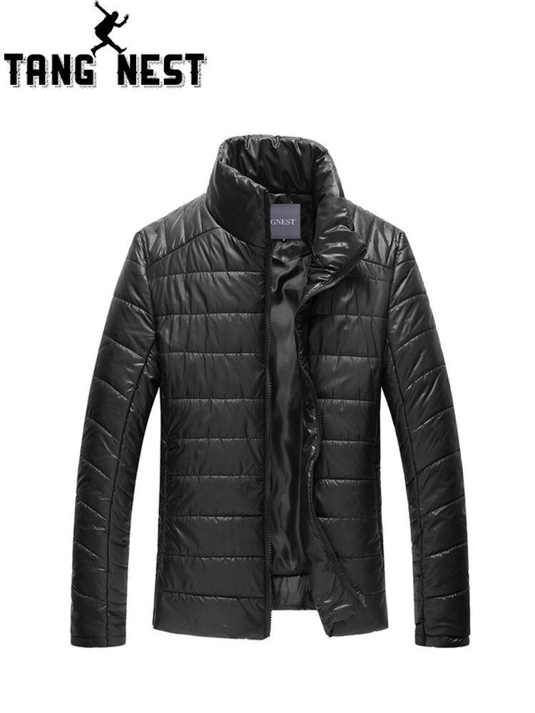 TANGNEST Winter Jacket Men 2019 Solid Color Warm Men Jacket All-match Casual Classic Design Men Coat Size M-XXXL Coat MWM910