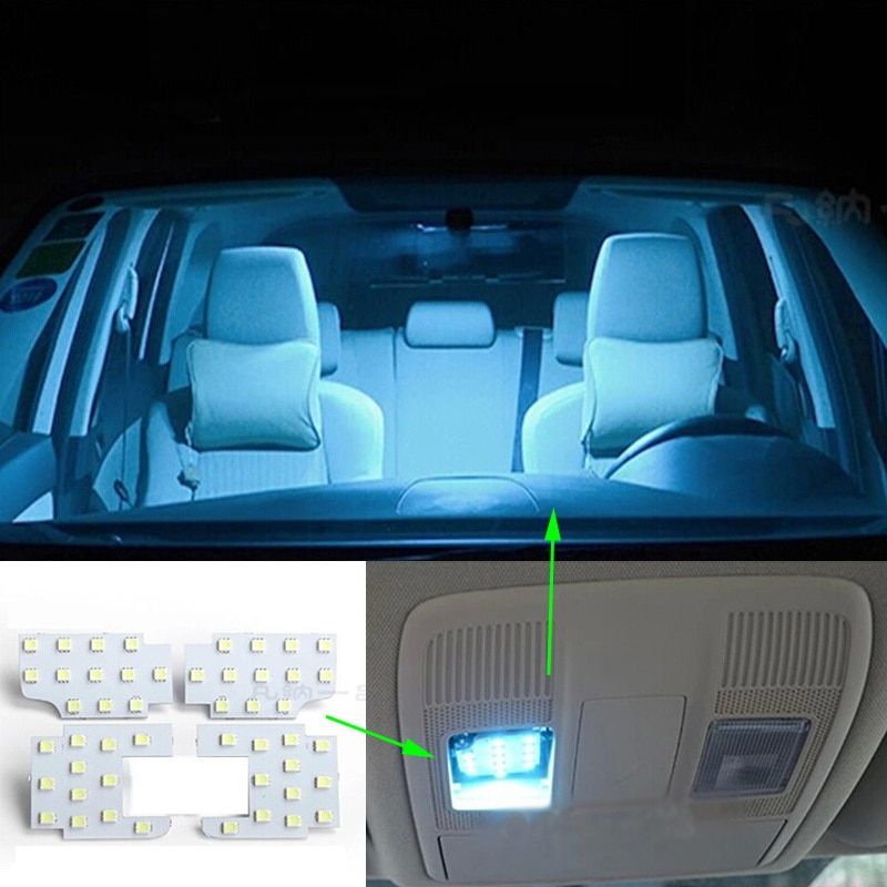4pcs per set Super Bright Led Interior Dome Map Reading Light Lamp For MAZDA CX-5 CX5 Atenza Axela Car-Styling