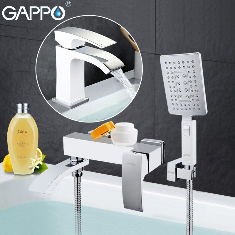 GAPPO high quality waterfall bath sink faucet torneira mixer restroom sink shower faucets and Basin Faucet GA3207-8 GA1007-8