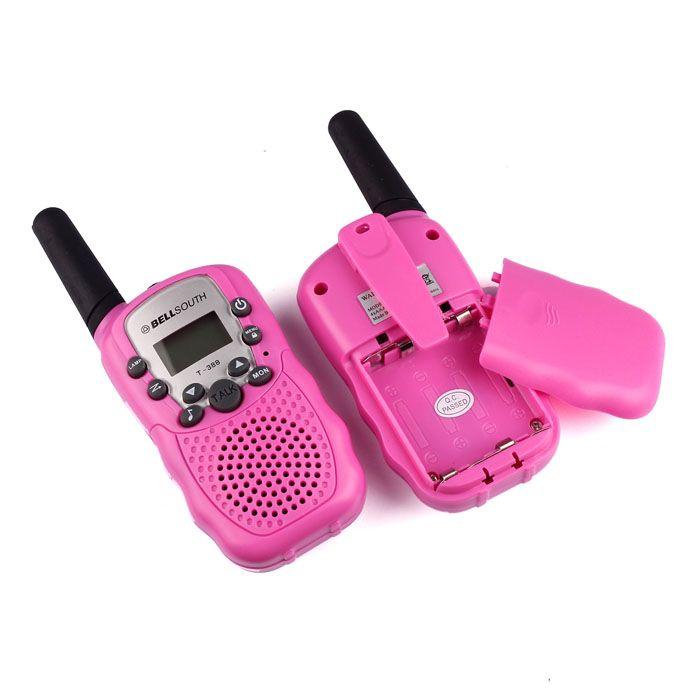 2pcs Portable Wireless Walkie-talkie Set Eight Channel 2 Way Radio Intercom 5KM Travel Hot Pink sep19
