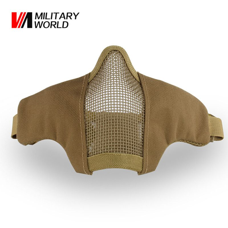 Tactical Half Face Mask Men Paintball Airsoft Shooting Face Mask For War Game Hunting Accessories Cycling Mask$