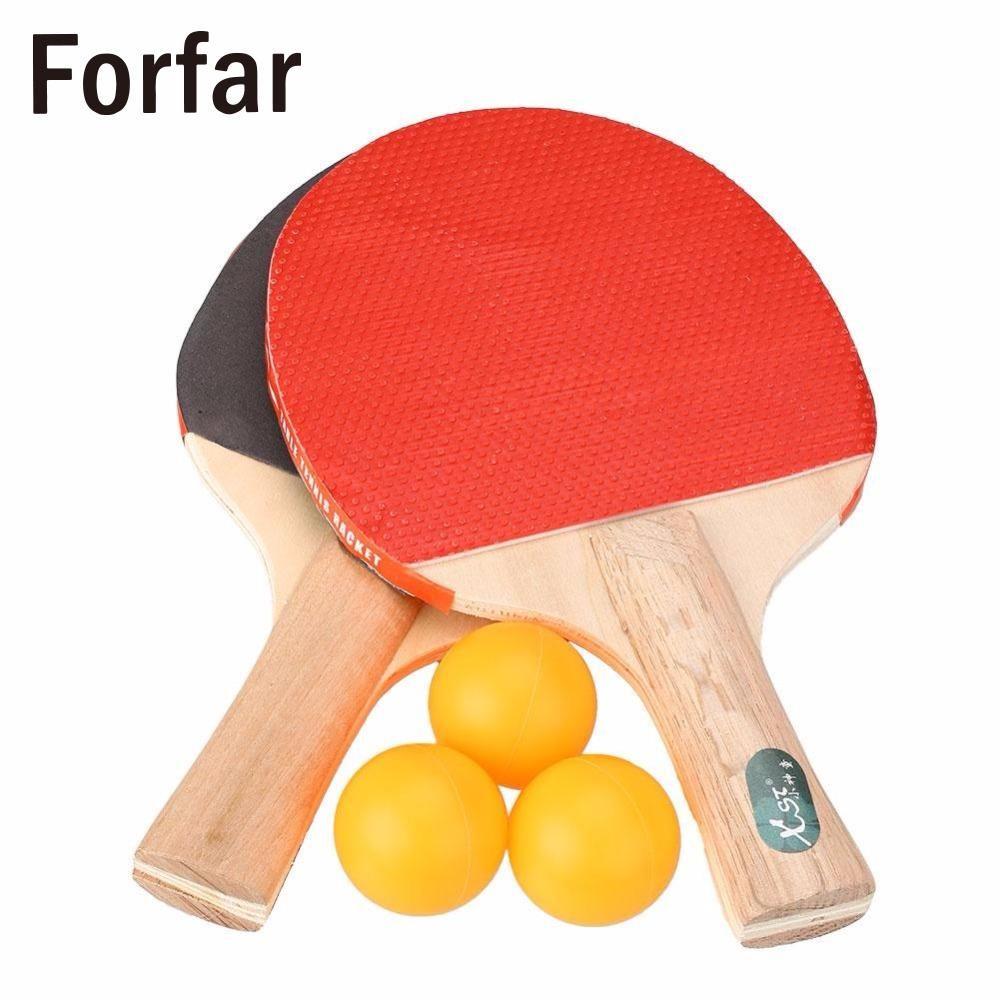 Forfar Tischtennisschläger Professionelle Ping Pong Paddel-schläger Mit 3 Bälle Sporttraining