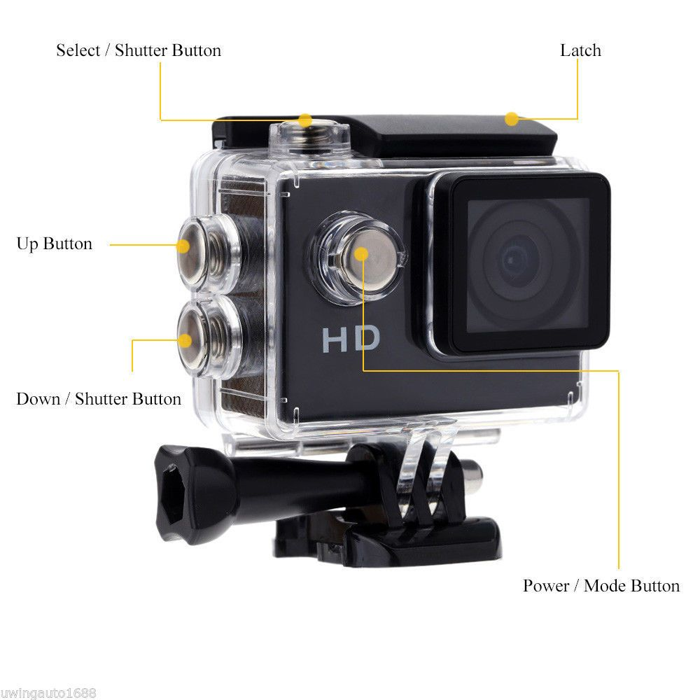 Camcorder Recorder Waterproof 30 Meters Go Pro Style Sport Action Mini Camera 2 Inch LCD Screen HD 720P Motion Detection