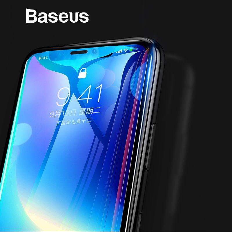 Baseus 0,3mm 7D Oberfläche Screen Protector Für iPhone X Glas 9 H Dünne Anti Blau Licht Gehärtetem Glas Für iPhone X Schutz Glas