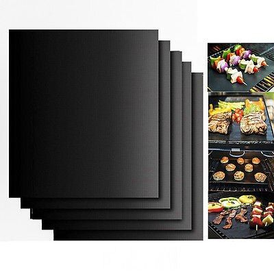 BBQ Accessories Grill Mat Set Of 2 Pack Non Stick Pad for Gas Easy Clean Bake Cook Grate Cover Reusable Cooking Sheets Bakeware