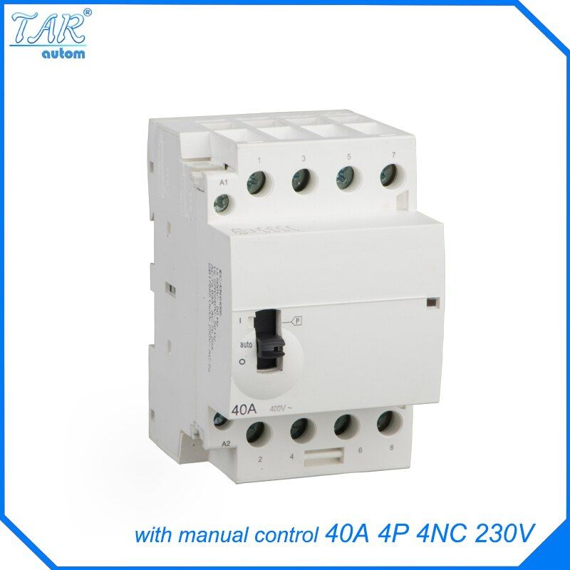 40A Home 4P AC contactor with manual control function 4NC