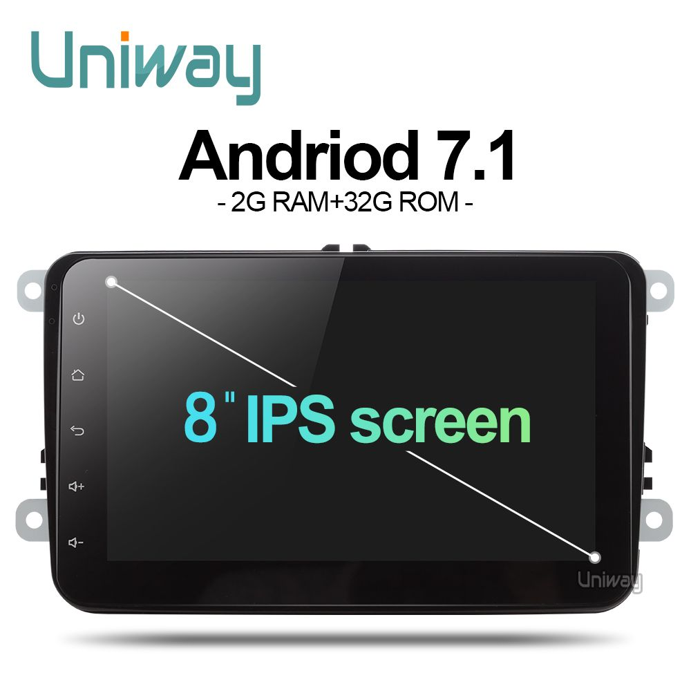 Uniway ADZ8071  2 din android 7.1 car dvd for vw passat b6 b7 golf 5 tiguan polo octavia rapid fabia car multimedia player