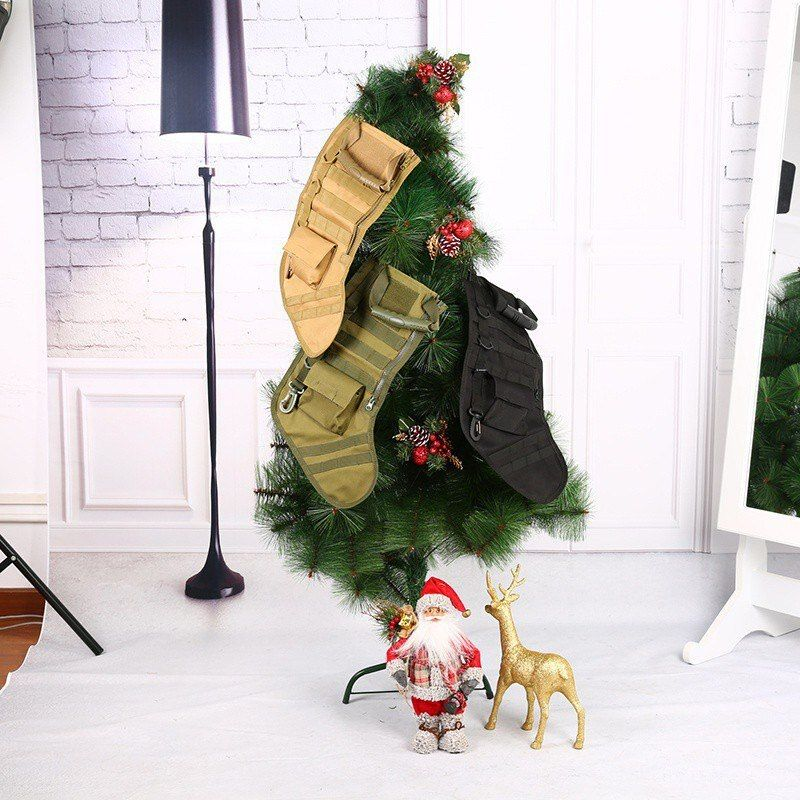 Hanging Tactical Molle Christmas Stocking Bag Dump Drop Pouch Utility Storage Bag Military Combat Hunting Magazine Pouches