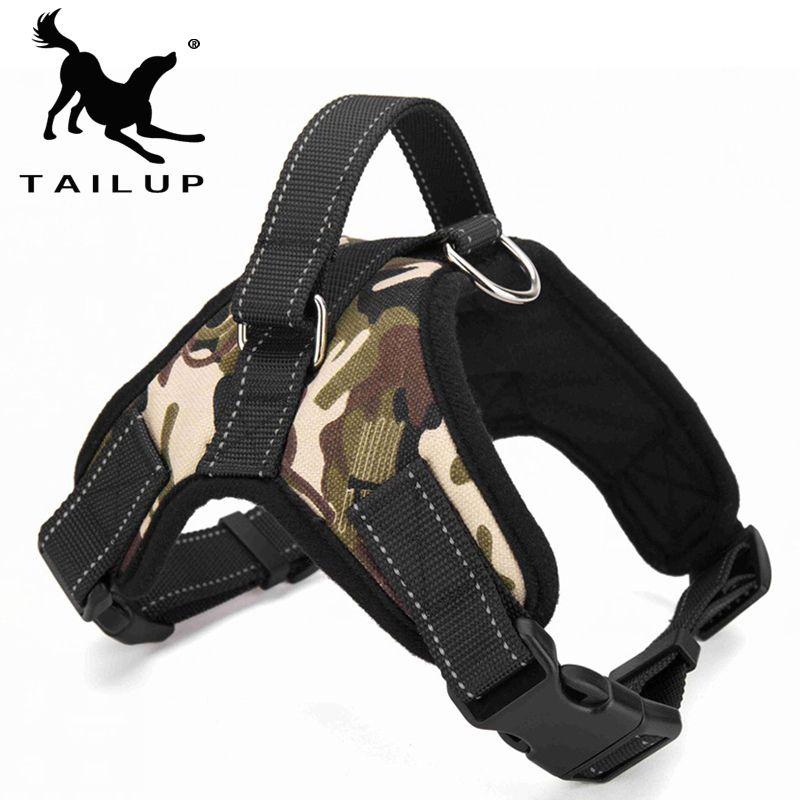 [TAILUP] produits pour animaux de compagnie pour grand chien harnais k9 LED lumineuse collier chiot plomb animaux gilet chien conduit accessoires Chihuahua PY0007