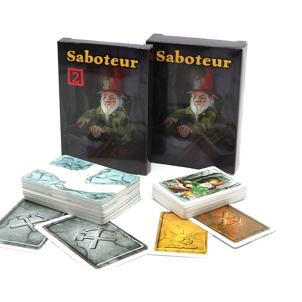 Offre spéciale plusieurs règles de langue saboteur 1/saboteur 2 expansion, jeu de cartes jeu de table, jeu de société