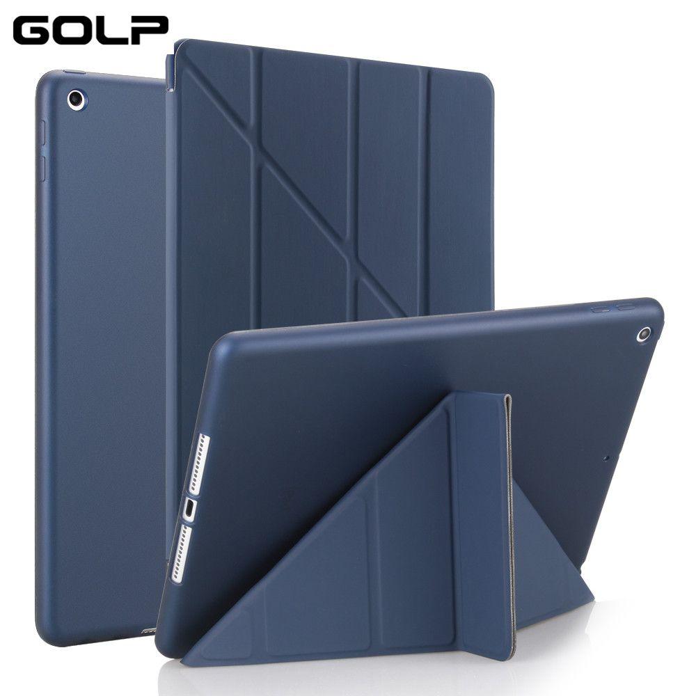 Cas de Couverture pour iPad 9.7 2017, GOLP PU En Cuir Magentic Smart Cover Tpu Retour Étui de protection pour iPad 2018 couverture A1822 A1823