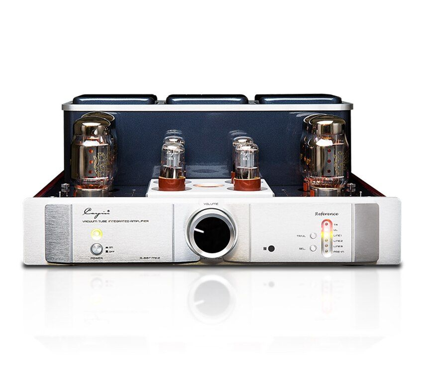 Q-007 QUEENWAY Cayin A-88TMK2 vacuum Tube Amplifier EL34 KT88 6550EH x4 class AB push-pull amplifier TR~UL switch 35W*2