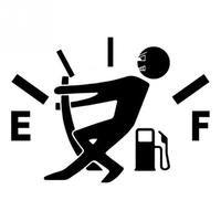 12 см * 9 см высокое потребление газа наклейка топлива gage пустой Наклейки Смешные винил JDM Наклейки для автомобиля стайлинга автомобилей цвет...